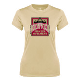 Ladies Syntrel Performance Vegas Gold Tee-Pioneer Movement