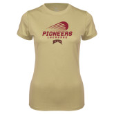 Ladies Syntrel Performance Vegas Gold Tee-Pioneers Lacrosse Modern