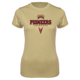 Ladies Syntrel Performance Vegas Gold Tee-Pioneers Lacrosse Geometric Stick Head