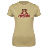 Ladies Syntrel Performance Vegas Gold Tee-Pioneers Soccer Half Ball