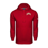 Under Armour Cardinal Performance Sweats Team Hood-Arched U of Denver 2 Color Version