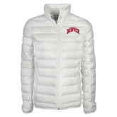 Columbia Mighty LITE Ladies White Jacket-Arched U of Denver 2 Color Version