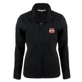 Ladies Black Softshell Jacket-Pioneer Movement