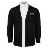 Black V Neck Cardigan w/Pockets-Primary 2 Color