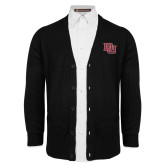 Black V Neck Cardigan w/Pockets-DU 2 Color