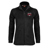 Ladies Fleece Full Zip Black Jacket-National Champions 2015 Lacrosse