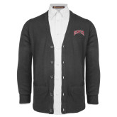 Charcoal V Neck Cardigan w/Pockets-Primary 2 Color