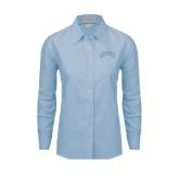 Ladies Light Blue Oxford Shirt-Arched Denver