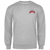 Grey Fleece Crew-Arched U of Denver 2 Color Version