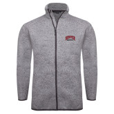 Grey Heather Fleece Jacket-Basketball
