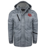Grey Brushstroke Print Insulated Jacket-DU 2 Color