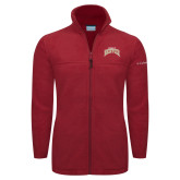 Columbia Full Zip Cardinal Fleece Jacket-Arched U of Denver 2 Color Version