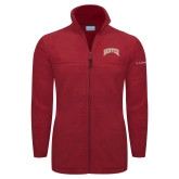 Columbia Full Zip Cardinal Fleece Jacket-Arched Denver 2 Color Version