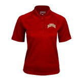 Ladies Cardinal Textured Saddle Shoulder Polo-Arched U of Denver 2 Color Version