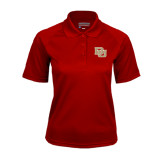 Ladies Cardinal Textured Saddle Shoulder Polo-DU