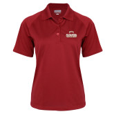 Ladies Cardinal Textured Saddle Shoulder Polo-2017 NCAA Division I Mens Hockey Champions