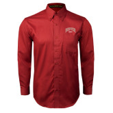 Cardinal Twill Button Down Long Sleeve-Rugby