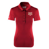 Ladies Under Armour Cardinal Performance Polo-National Champions 2015 Lacrosse