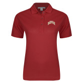 Ladies Easycare Cardinal Pique Polo-Arched U of Denver 2 Color Version