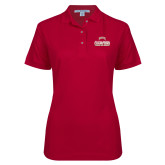Ladies Easycare Cardinal Pique Polo-2017 NCAA Division I Mens Hockey Champions