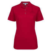 Ladies Easycare Cardinal Pique Polo-Primary 2 Color