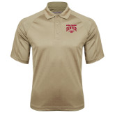 Vegas Gold Textured Saddle Shoulder Polo-National Champions 2015 Lacrosse