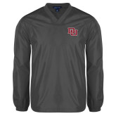 V Neck Charcoal Raglan Windshirt-DU 2 Color