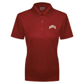 Ladies Cardinal Dry Mesh Polo-Arched U of Denver 2 Color Version