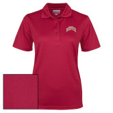 Ladies Cardinal Dry Mesh Polo-University of Denver 2 Color