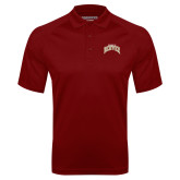 Cardinal Textured Saddle Shoulder Polo-Arched U of Denver 2 Color Version