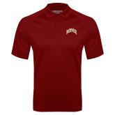 Cardinal Textured Saddle Shoulder Polo-Arched U of Denver 2 Color Version