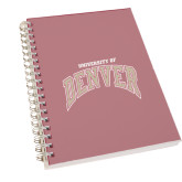 Clear 7 x 10 Spiral Journal Notebook-Arched University of Denver