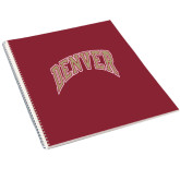 College Spiral Notebook w/Clear Coil-Arched Denver