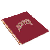 College Spiral Notebook w/Gold Coil-Arched Denver