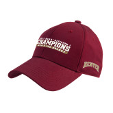 Cardinal Heavyweight Twill Pro Style Hat-2017 NCAA Division I Mens Hockey Champions