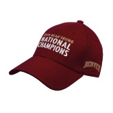 Cardinal Heavyweight Twill Pro Style Hat-2018 NCAA SKiing National Champions Embroidery