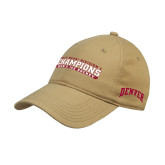 Vegas Gold Twill Unstructured Low Profile Hat-2017 NCAA Division I Mens Hockey Champions