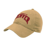 Vegas Gold Twill Unstructured Low Profile Hat-University of Denver 2 Color