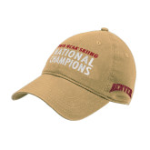 Vegas Gold Twill Unstructured Low Profile Hat-2018 NCAA SKiing National Champions Embroidery