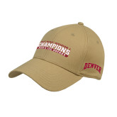Vegas Gold Heavyweight Twill Pro Style Hat-2017 NCAA Division I Mens Hockey Champions