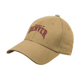 Vegas Gold Heavyweight Twill Pro Style Hat-University of Denver 2 Color