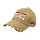 Vegas Gold Heavyweight Twill Pro Style Hat-2018 NCAA SKiing National Champions Embroidery