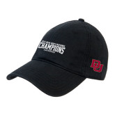 Black Twill Unstructured Low Profile Hat-Mens National Lacrosse Champions Hat