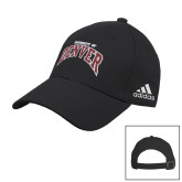 Adidas Black Slouch Unstructured Low Profile Hat-University of Denver 2 Color