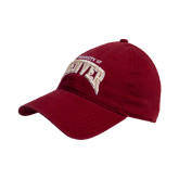 Cardinal Twill Unstructured Low Profile Hat-Arched U of Denver 2 Color Version