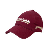 Cardinal Twill Unstructured Low Profile Hat-2017 NCAA Division I Mens Hockey Champions