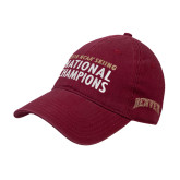 Cardinal Twill Unstructured Low Profile Hat-2018 NCAA SKiing National Champions Embroidery