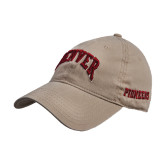 Khaki Twill Unstructured Low Profile Hat-Arched Denver 2 Color Version