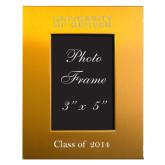 Gold Brushed Aluminum 3 x 5 Photo Frame-University of Denver Engraved, Personalized