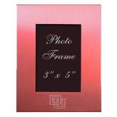 Pink Brushed Aluminum 3 x 5 Photo Frame-DU Engraved